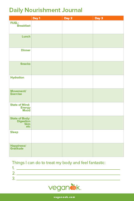 daily food diary template  free  printable